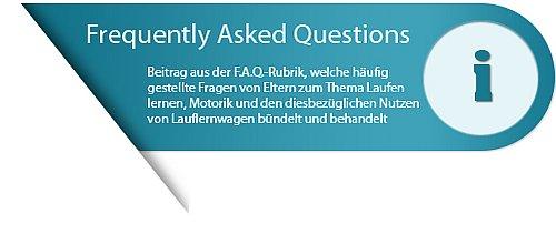 FAQ- Banner der Lauflernwagen Website